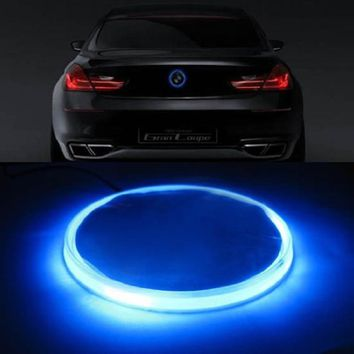 83mm Car-Styling Car Light Decal 2D Sticker Logo Badge Emblem Light Lamp 12V For BMW 5 7 Series Red White Blue Light Accessories