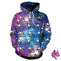 Unicorn Hooded Dreams Pullover
