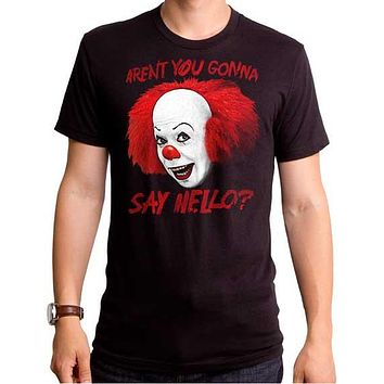 Steven King IT Say Hello Mens Clown T-Shirt