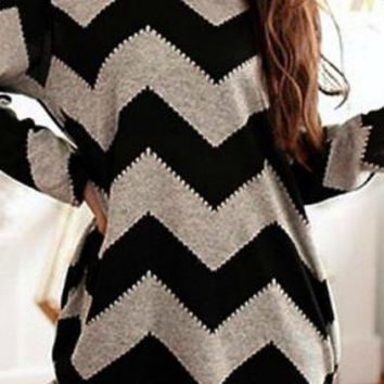Lazy Days Chevron Print Top