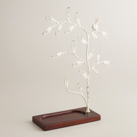 White Tree Wooden Base Jewelry Stand - World Market