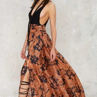 Nasty Gal Summer Nights Silk Skirt