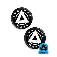 Strange Ways Logo Pinback Button (Set of 2)