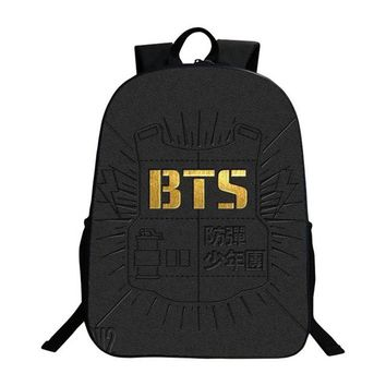 Cool Backpack school Pacento 2017 Pokemon Pikachu Pattern Children Bag Student School Bags Canvas Backpack BTS Logo Teenagers Bag Cheap Cool Backpack AT_52_3