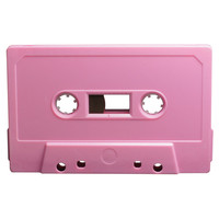 Baby pink blank audio cassette tapes - Retro Style Media