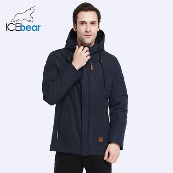 ICEbear High-quality Men Coat Spring New Arrival Casual Parka Solid Thin Brand Fashion Coat 17MC010D