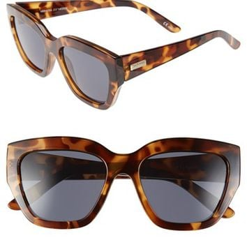 Women's Le Specs 'Hermosa' 54mm Oversized Cat Eye Sunglasses - Milky Tortoise