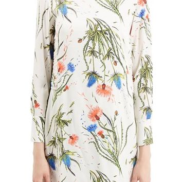 Women's Topshop Unique 'Edenvale' Floral Print Tunic Dress,