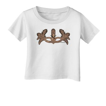 Earth Masquerade Mask Infant T-Shirt by TooLoud