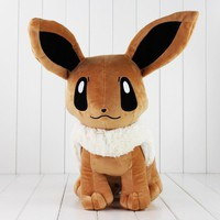 1pcs 40cm Hot Anime Stuffed Toy Cute Evoli Eevee Plush Toy Kids Doll