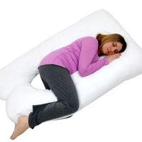 U SHAPED- PREMIUM CONTOURED PREGNANCY/ MATERNITY PILLOW WITH ZIPPERED COVER