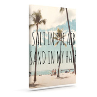 "Nastasia Cook ""Salt in the Air"" Beach Trees Outdoor Canvas Wall Art"