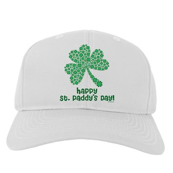 Happy St. Paddy's Day Shamrock Design Adult Baseball Cap Hat by TooLoud