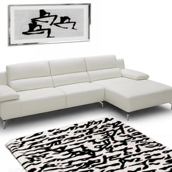 Modern Italian Leather White Sectional Sofa
