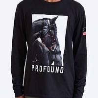 Profound Aesthetic Circle Horse Long-Sleeve- Black