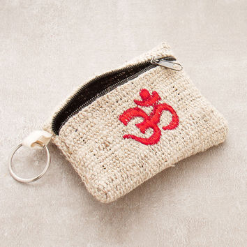 Om Hemp Coin Purse