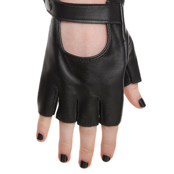 Black Moto Gloves