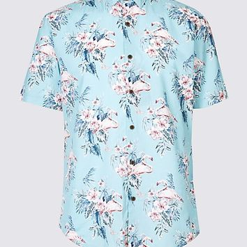 Slim Fit Floral Print Shirt | Limited Edition | M&S