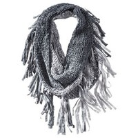 Mad Love® Solid Infinity Scarf with Fringe - Gray