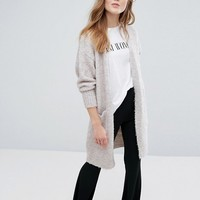 New Look Longline Boucle Knitted Cardigan at asos.com
