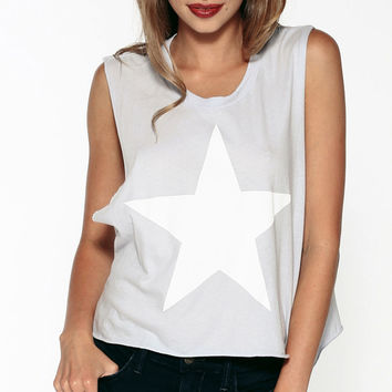 Big Star Print Sleeveless Tank Top