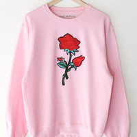 Rose Oversized Sweater - Pink