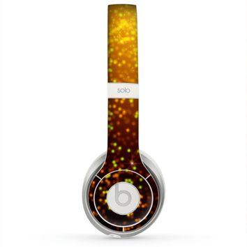 The Bright Gold Glowing Sparks Skin for the Beats by Dre Solo 2 Headphones