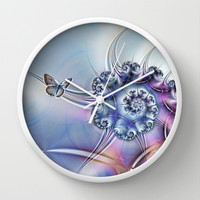 Butterfly heaven Wall Clock by Shalisa Photography