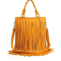 Shoulder Bag With Tassels