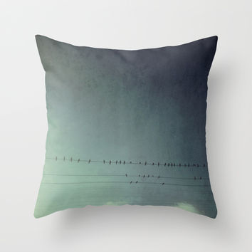 settle your wings Throw Pillow by RichCaspian