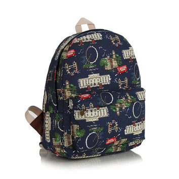 Korean Casual Canvas Backpack = 4887485188