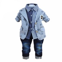 3pcs Boy Clothes Baby Boy Dress Clothes Jacket Toddler Dress Clothing Boy Dress Suits Boy Polo Shirts Baby Clothes Baby Boy Clothing