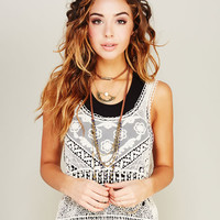 Crochet & Lace Boho Tank | Wet Seal