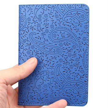 2016 Lavender Passport Holder Cover PU Leather ID Card Fashion Travel Ticket Pouch Packages passport Covers passport credit Case