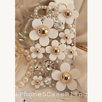 iphone 5c case, iphone 5c cover, flower iphone 5c case, cute iphone 5c case, bling iphone 5c case, iphone 5c case daisy
