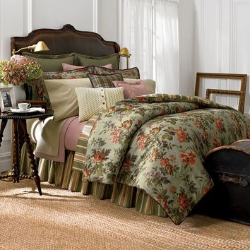 Chaps Home Brittany 4-pc. Comforter Set - Cal. King (Green)
