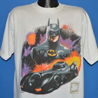 80s Batman Movie Batmobile t-shirt Extra Large
