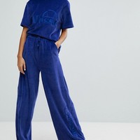 Ellesse Wide Leg Trackpant Co-Ord In Velour at asos.com
