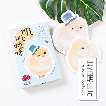 30pcs/lot little chicken Various shapes postcard Animal landscape greeting card christmas card birthday card message gift cards