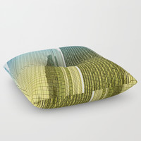 skyscraper Floor Pillow by MarionB.