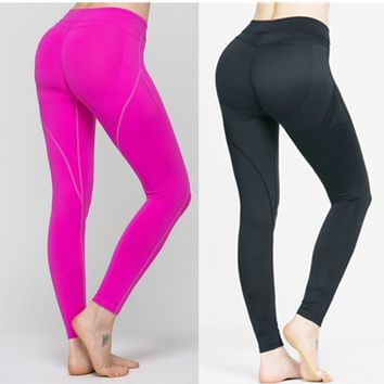 Yoga Pants Sport Tights Women Sports Clothing Maio Fitness Aerobic Clothes Running Tights Women Yoga Leggings Wear Pink 2017