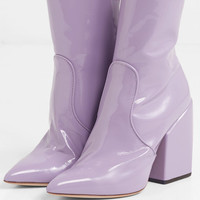 Petar Petrov - Solar patent-leather ankle boots