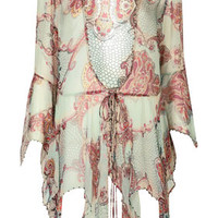 **DRAPED PAISLEY TIE BLOUSE BY KATE MOSS FOR TOPSHOP