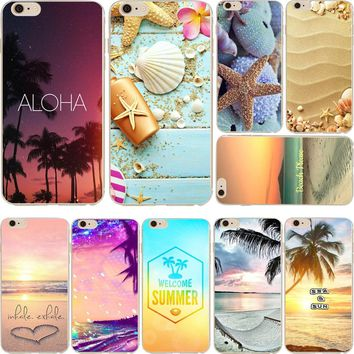 ciciber Summer beach views starfish shell Clear soft silicon phone cases back cover For iphone 7 6 6S 8 plus 5S SE Fundas Coque