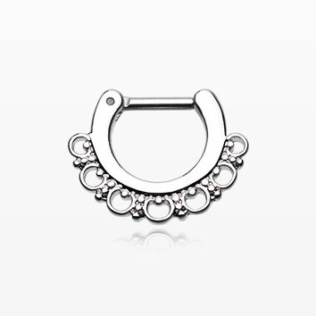 Majestic Ornate Filigree Septum Clicker