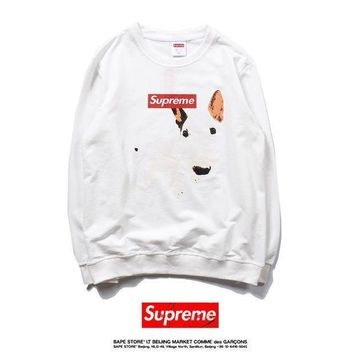 Supreme Fall Winter Pullover Sweatershirt Black White [429901742116]