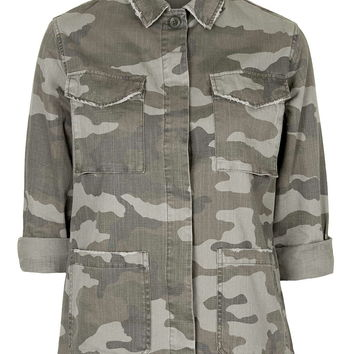 Authentic Camo Shackett - Jackets - Clothing