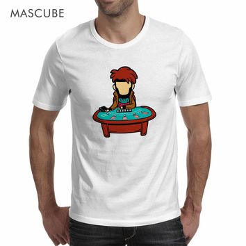 MASCUBE Superhero Gambit Printed Character T Shirt Casual Style New Fashion X-Men Comics Funny Design Custom Cotton T-Shirt Tops