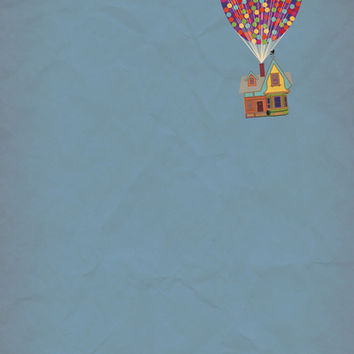 Disney Pixar's Up ~ A Minimalist Poster Art Print by Bluebird Design