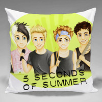 5SOS She Looks so Perfect  - Square and Regtagular Pillow Case One Side/Two Side.